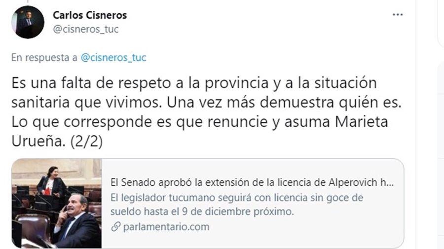 twitter Carlos Cisneros 20210603