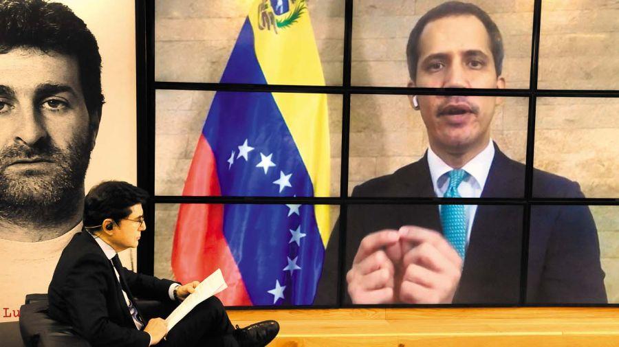 Juan Guaidó, en la entrevista con Jorge Fontevecchia.