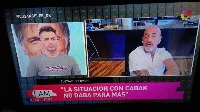 Los mensaje de Horacio Cabak mientras Gustavo Sofovich estaba al aire de LAM