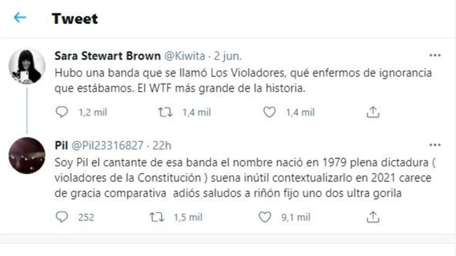 supuesto mensaje de Pil Trafa a Sara Stewart Brown