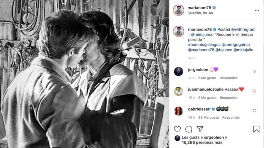 La foto de Mariano Martínez y Rodrigo Guirao Díaz besándose apasionadamente