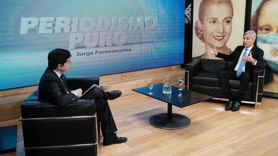 Marcelo Figueiras, en la entrevista con Jorge Fontevecchia.