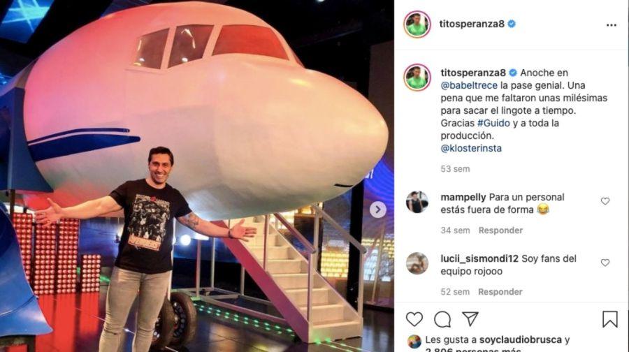 Tito Speranza incursiona una nueva vida en los medios
