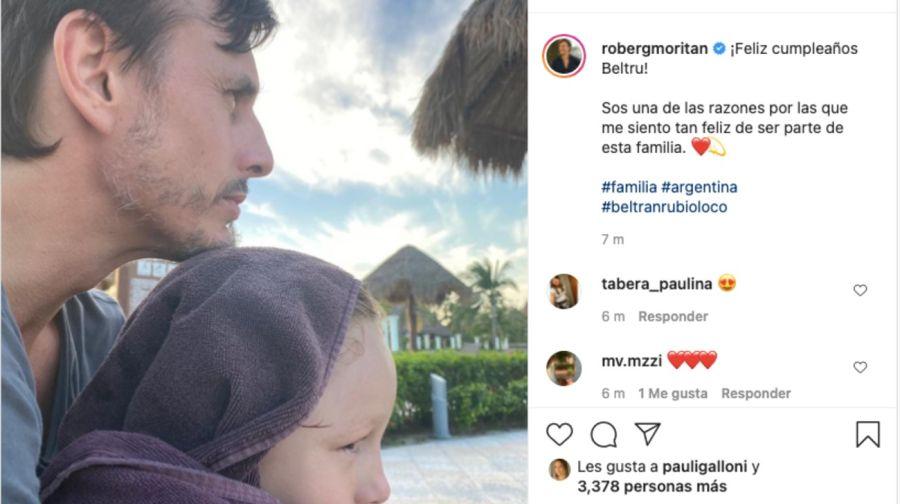 El mensaje de Roberto GarcíaMoritánaBeltrán, el hijo menor de Pampita y Vicuña