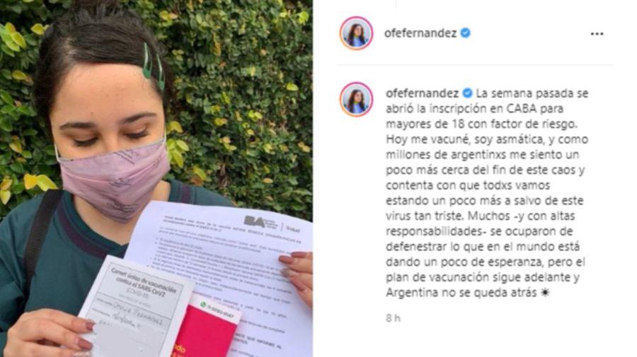 Ofelia Fernández Vacuna