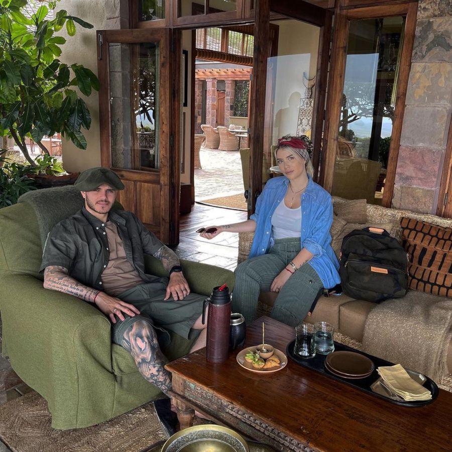 Wanda Nara y Mauro Icardi en África: recorré la habitación se alojan