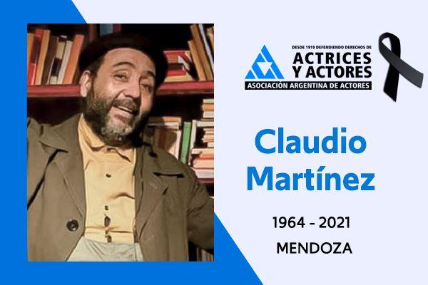A los 56 años, murió el referente del teatro Claudio Martínez