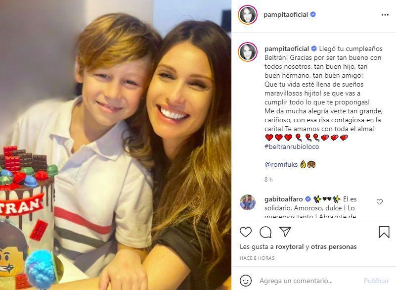 El mensaje de Pampita y Vicuña a Beltrán en el día de su cumpleaños