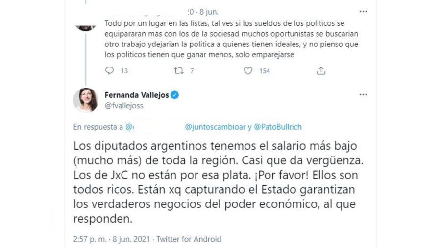 Fernanda Vallejos polemica sueldos
