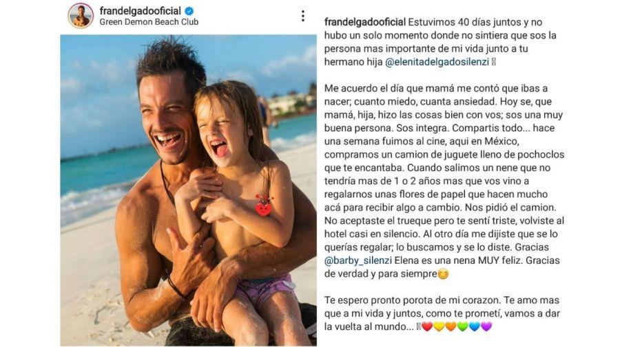 Francisco Delgado y su hija Elena