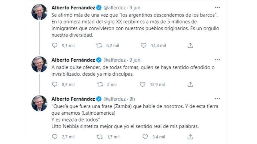 Descargo Alberto Fernandez