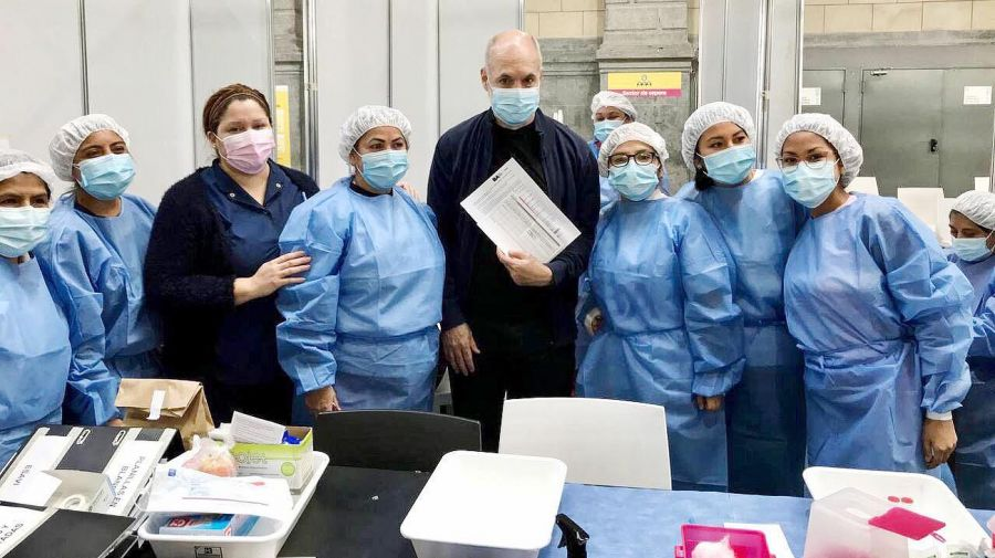 Vacunación Horacio Rodríguez Larreta 20210610