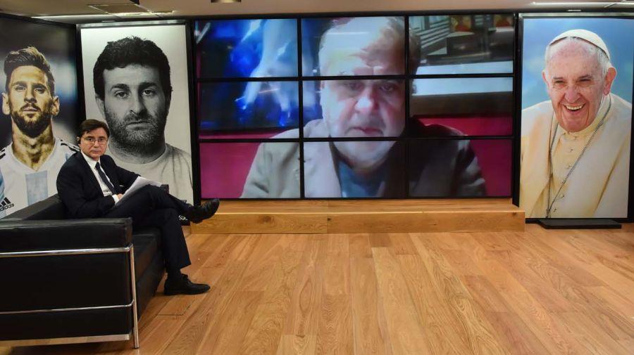 Jorge Alemán, en la entrevista con Jorge Fontevecchia.