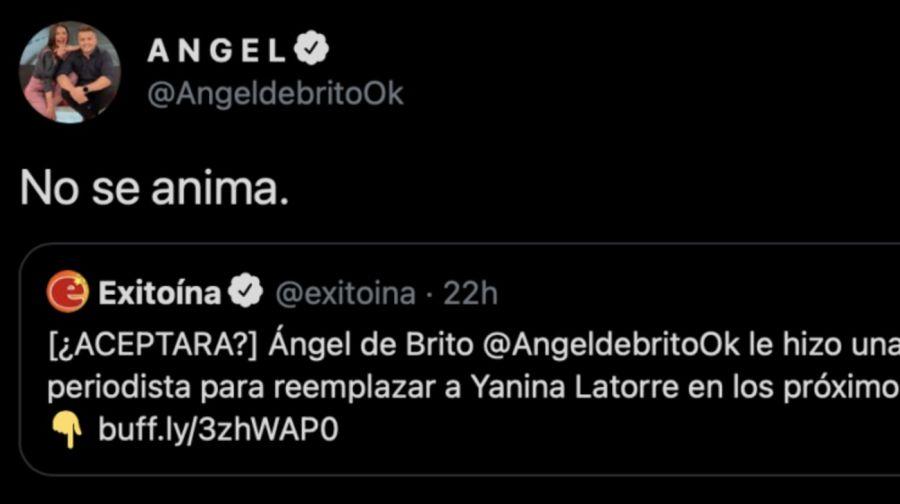 Ángel de Brito convocó a una reconocida periodista para reemplazar a Yanina Latorre en LAM