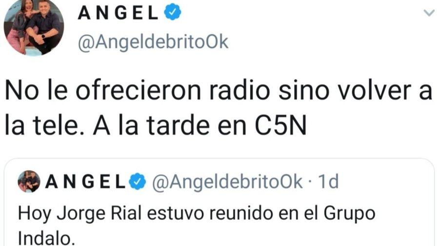 Ángel De Brito dio información sobre elfuturo laboral de Jorge Rial