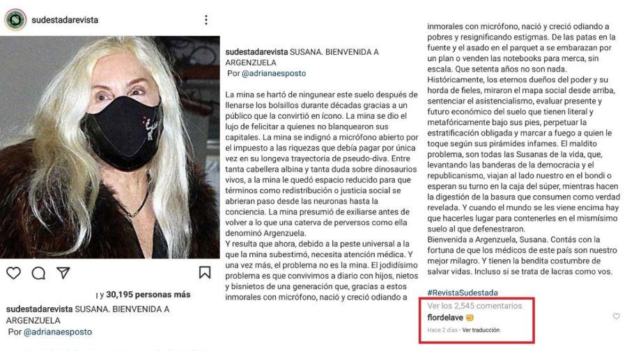 Florencia de la V contra Susana Gimenez