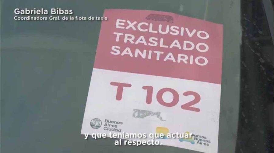 Operativo de taxistas en Teatro Colón 20210616
