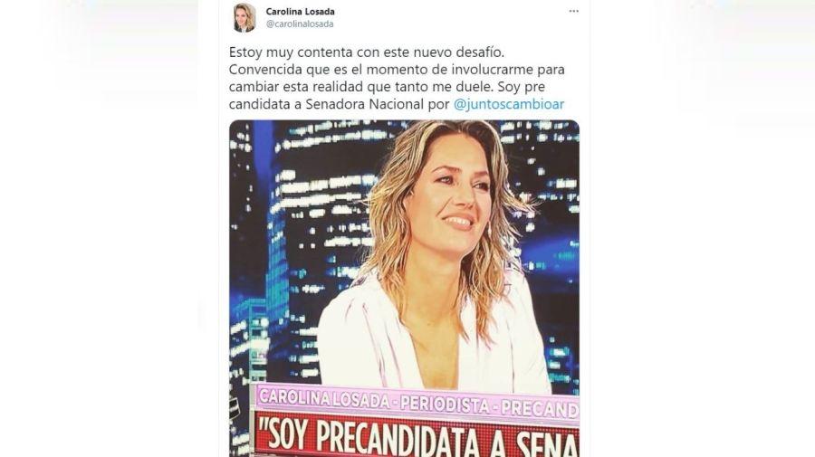 Carolina Losada anuncio politica