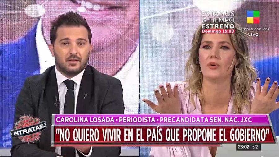 Cruce Diego Brancatelli y Carolina Losada