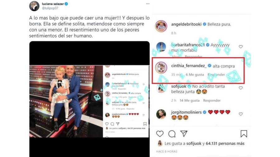 Mensaje Cinthia Fernandez a Luciana Salazar