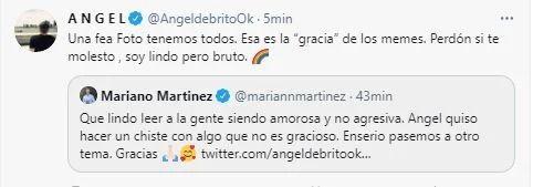 Ángel de Brito y Mariano Martínez tuvieron un filoso ida y vuelta: