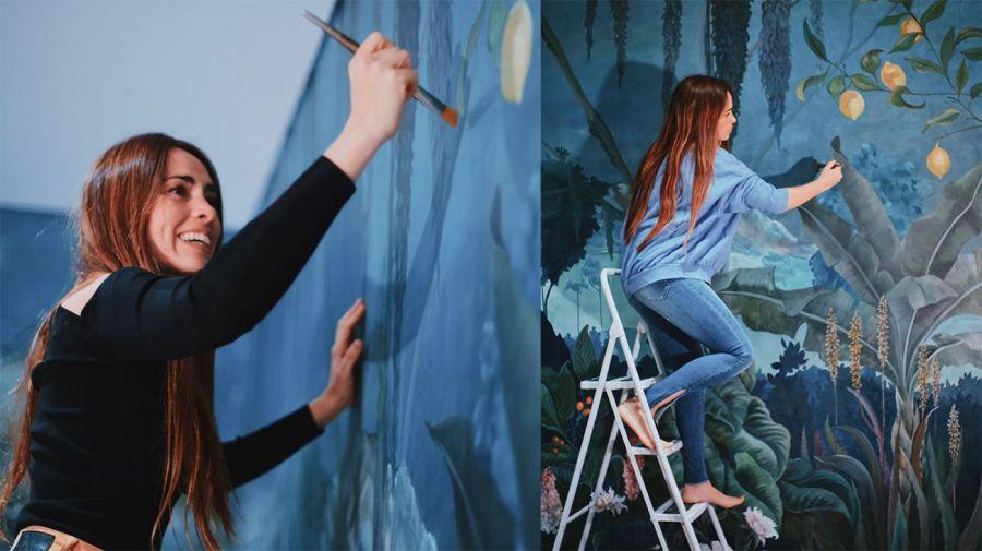 Florencia Aise, la pintora que cautivó al presidente Alberto Fernández.