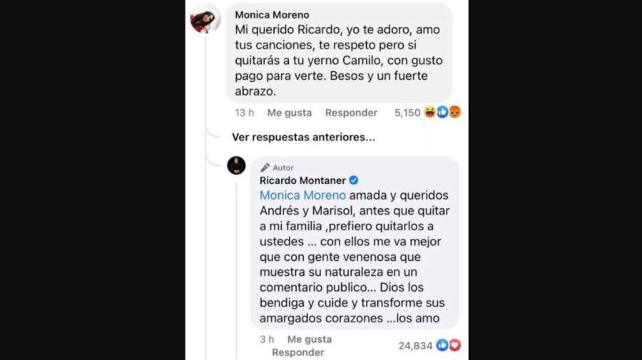 Ricardo Montaner furioso con fanatica