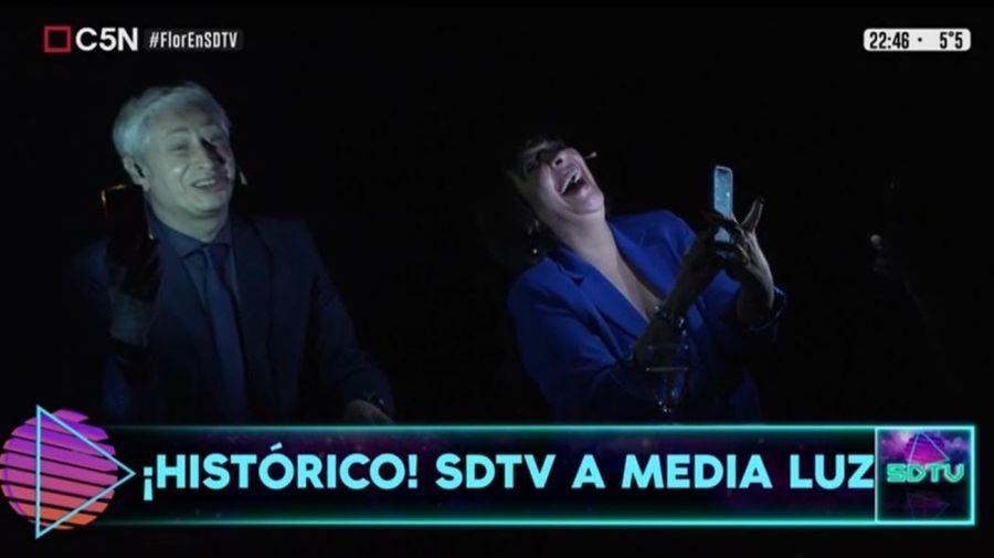 Corte de luz en Sobredosis de TV