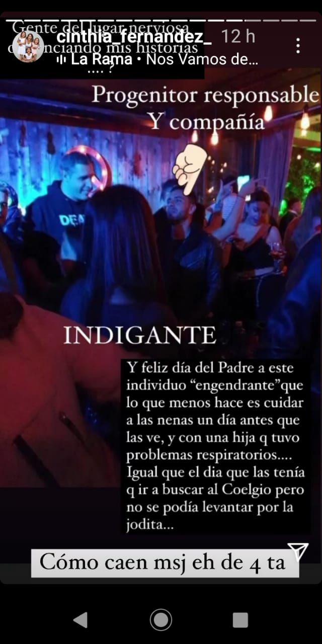 La furia de Cinthia Fernández con Matías Defederico