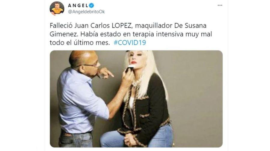 Muerte maquillador de Susana Gimenez