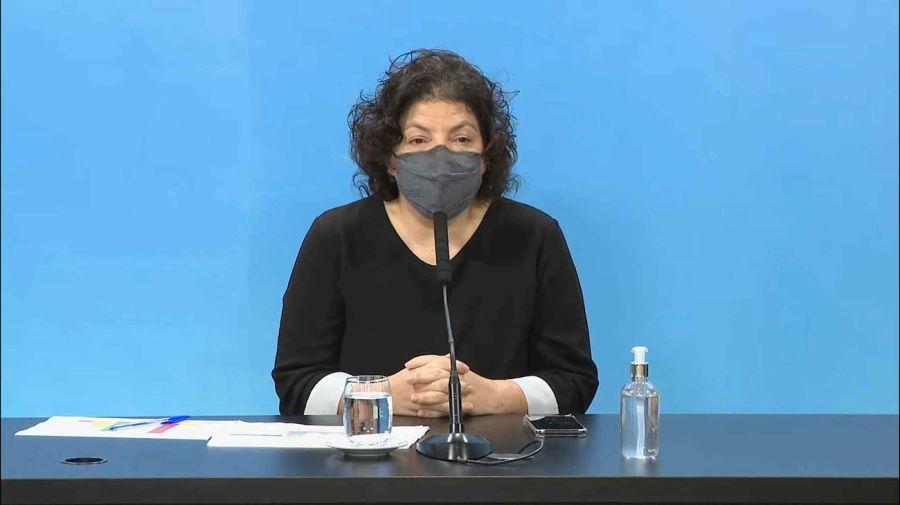 Conferencia de prensa de la ministra de Salud Carla Vizzotti 20210622