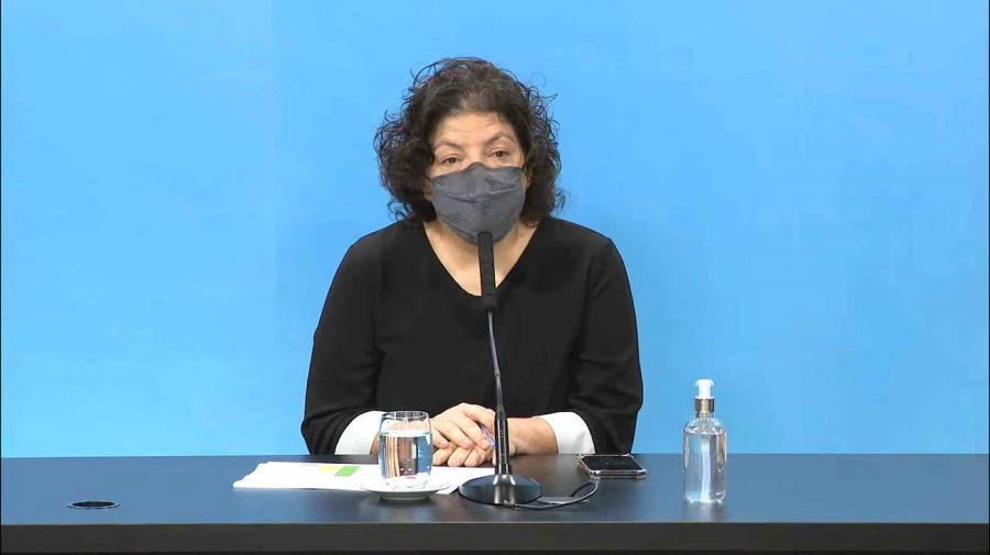 Conferencia de prensa de la ministra de Salud, Carla Vizzotti 20210622