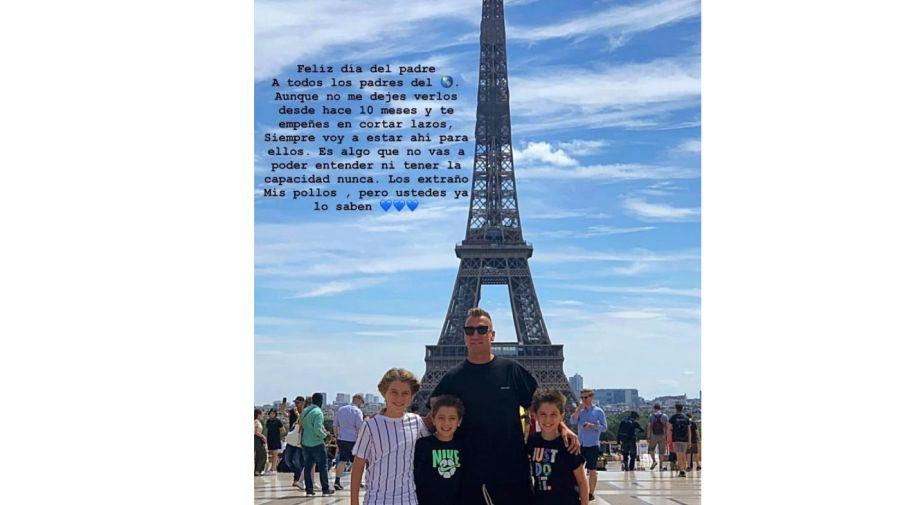 Wanda con Rosenfeld y Maxi con sus hijos 0622