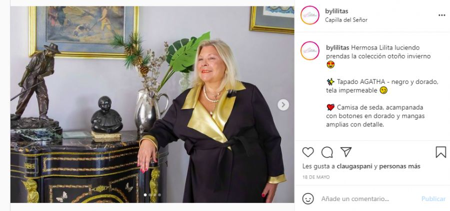 Lilita Carrió abrió las puertas de su casa y mostró su costado más fashionista