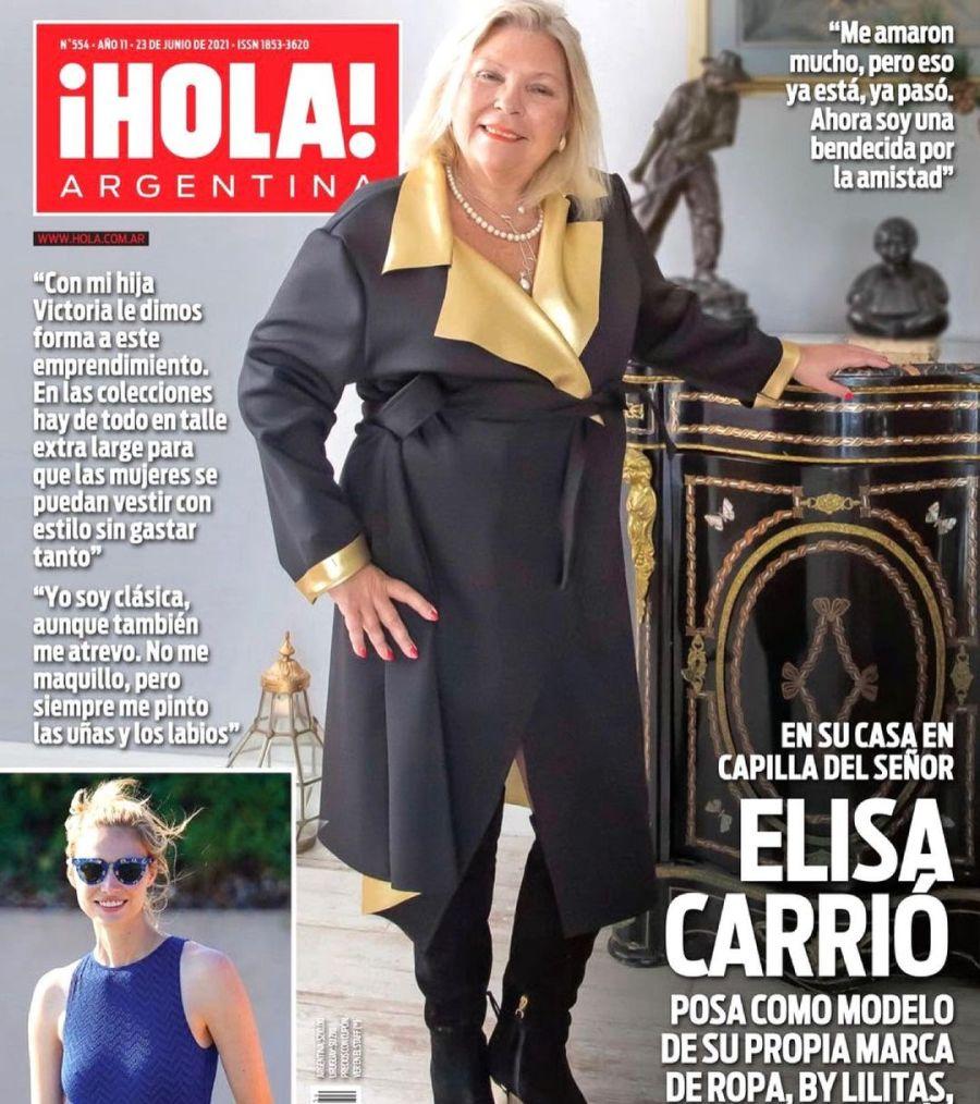 Lilita Carrio tapa de revista con su marca de moda para mujeres reales