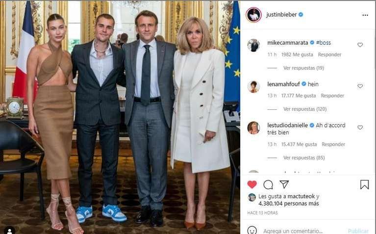 Los looks de Hailey Bieber y Brigitte Macron en París