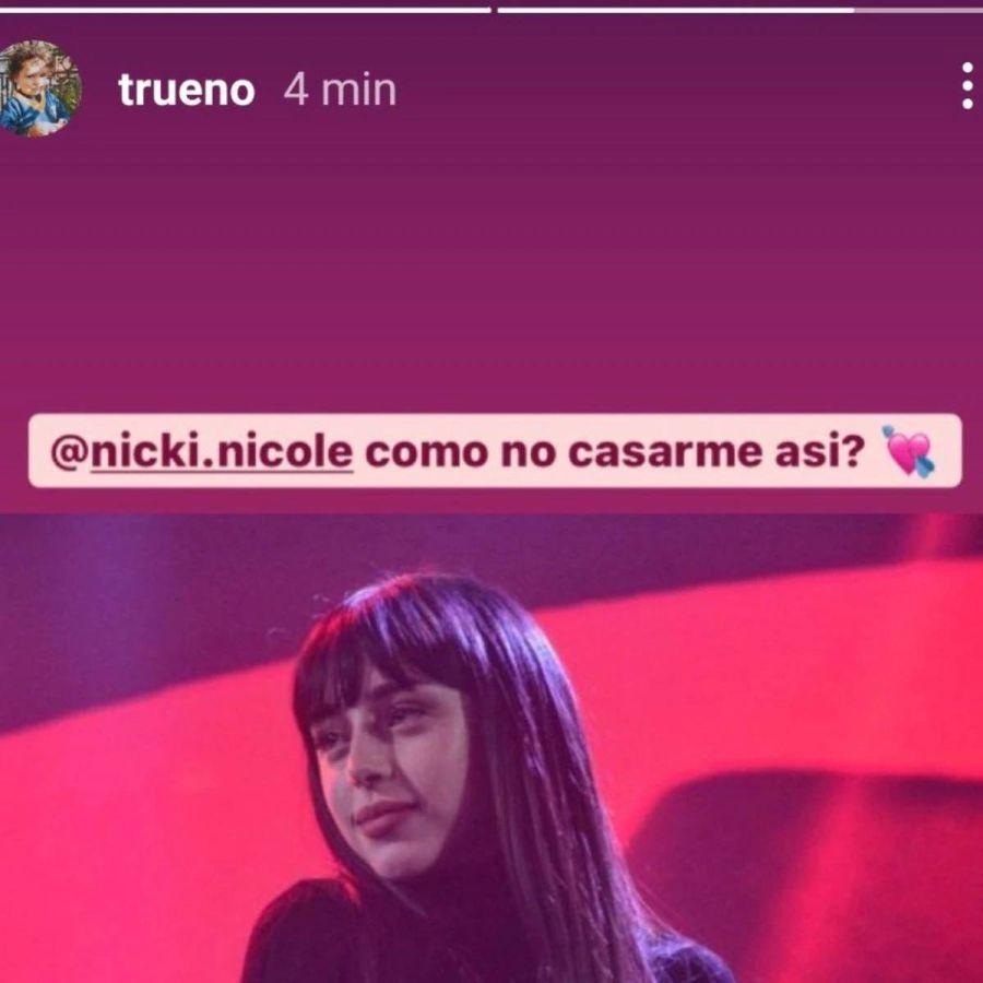 Nicki Nicole confirmó su compromiso con su novio