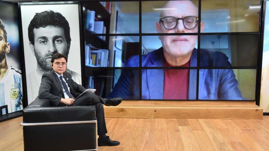 Enzo Traverso, en la entrevista con Jorge Fontevecchia.