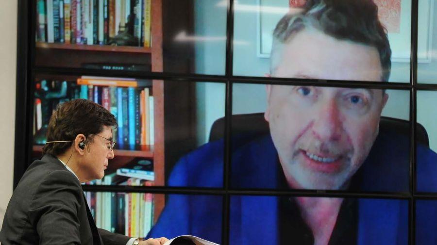 Silvio Waisbord, en la entrevista con Jorge Fontevecchia.