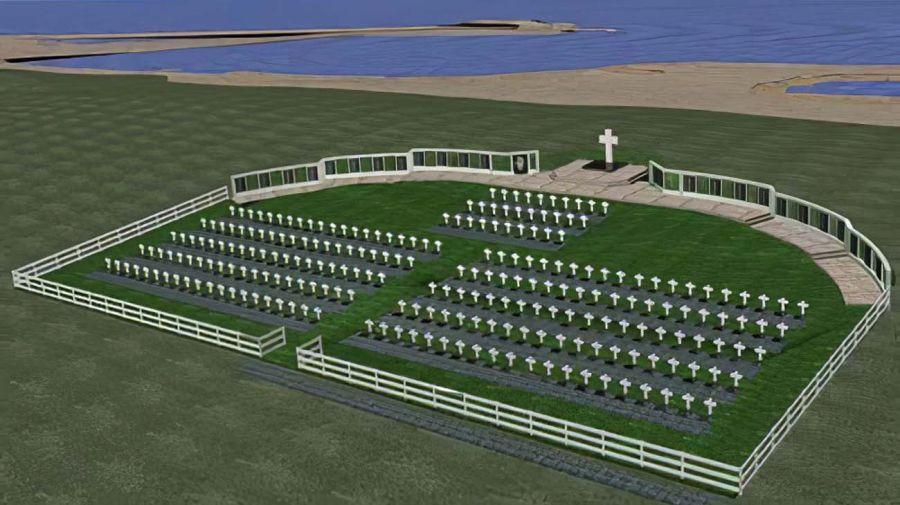 Darwin. El cementerio de soldados argentinos se encuentra en la isla Soledad.