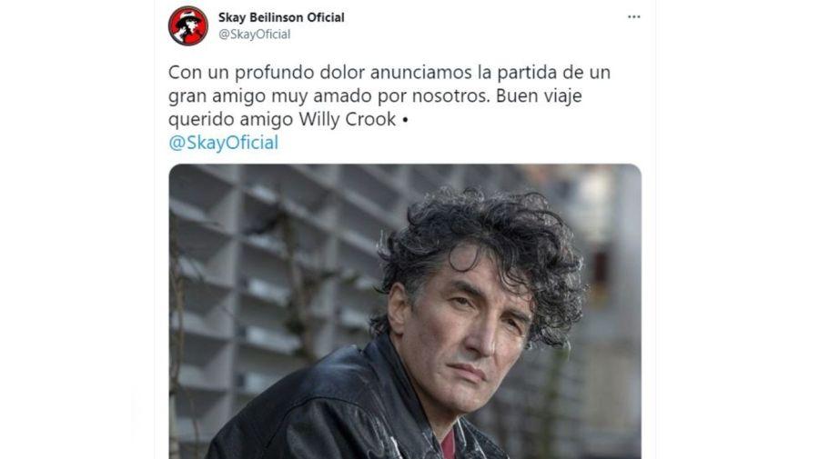 Mensaje Skay Beilinson tras muerte de Willy Crook