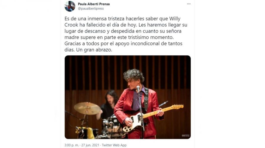 Muerte Willy Crook