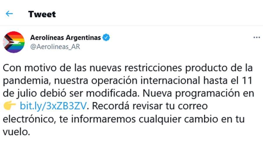 Aerolíneas Argentinas 20210628