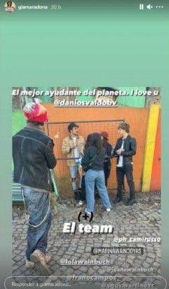Gianinna Maradona le dedicó románticos mensajes de Daniel Osvaldo