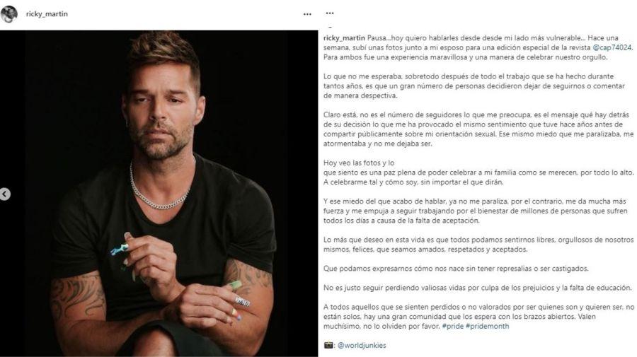 Ricky Martin descargo contra la discriminacion
