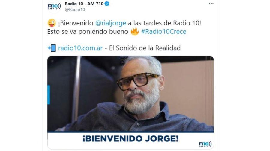 Jorge Rial en RadIo 10