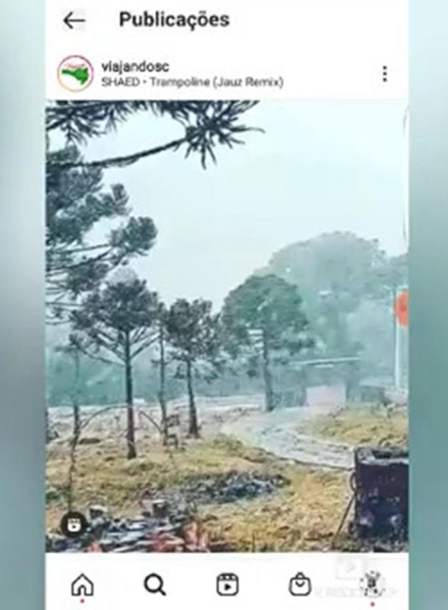 nevó en el estado de Santa Catarina, Brasil 20210629