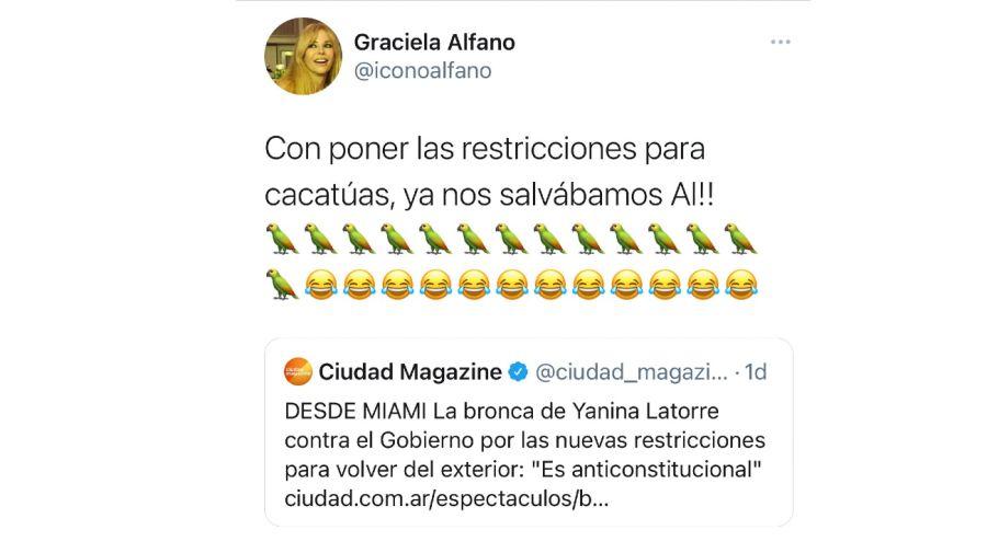 tweet Graciela