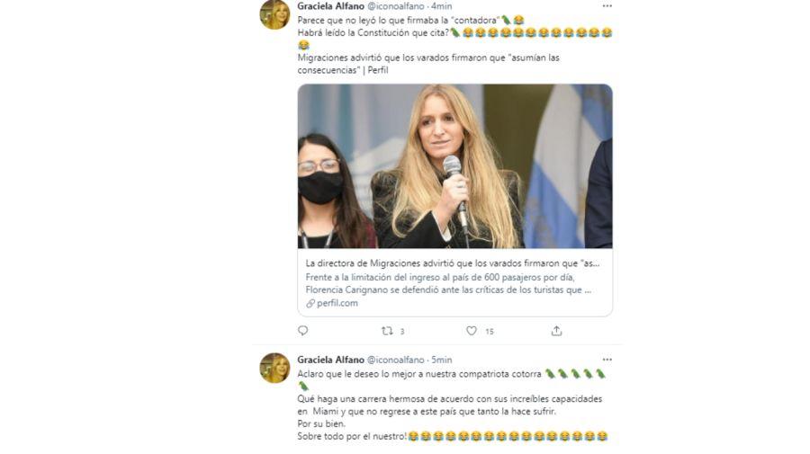 Tweets Graciela Alfano 0629