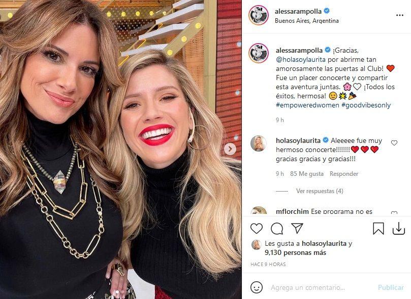 El mensaje de Alessandra Rampolla a Laurita Fernández tras su salida de